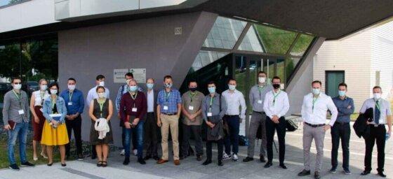 Účastníci setkání ve výzkumném centru Hilase Centre